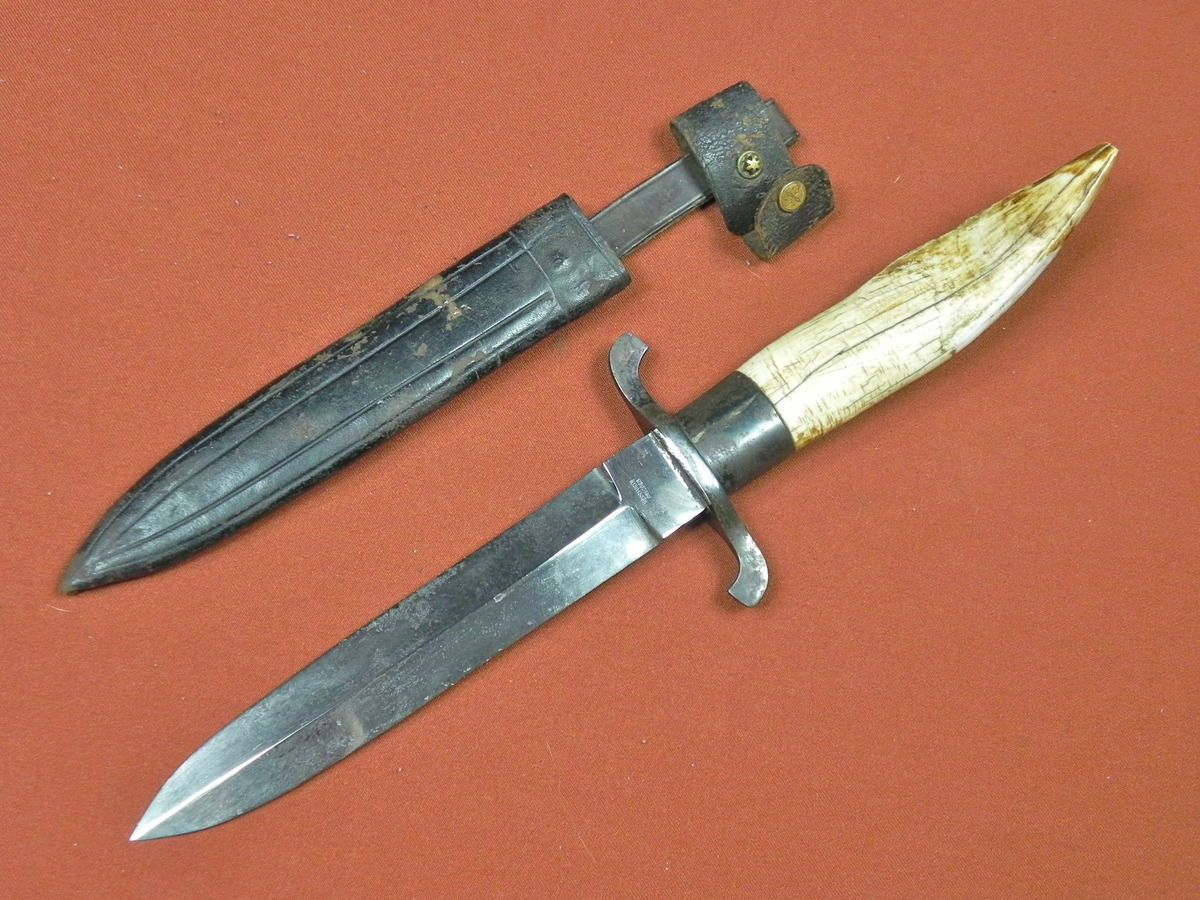 German Germany Antique 19 Century HERRFURTH Hunting Fighting Knife w/ Sheath | eBay
