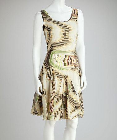 Take a look at this Green & Taupe Illusion Dress by Harvé Benard on #zulily today! $26.99, regular 80.00