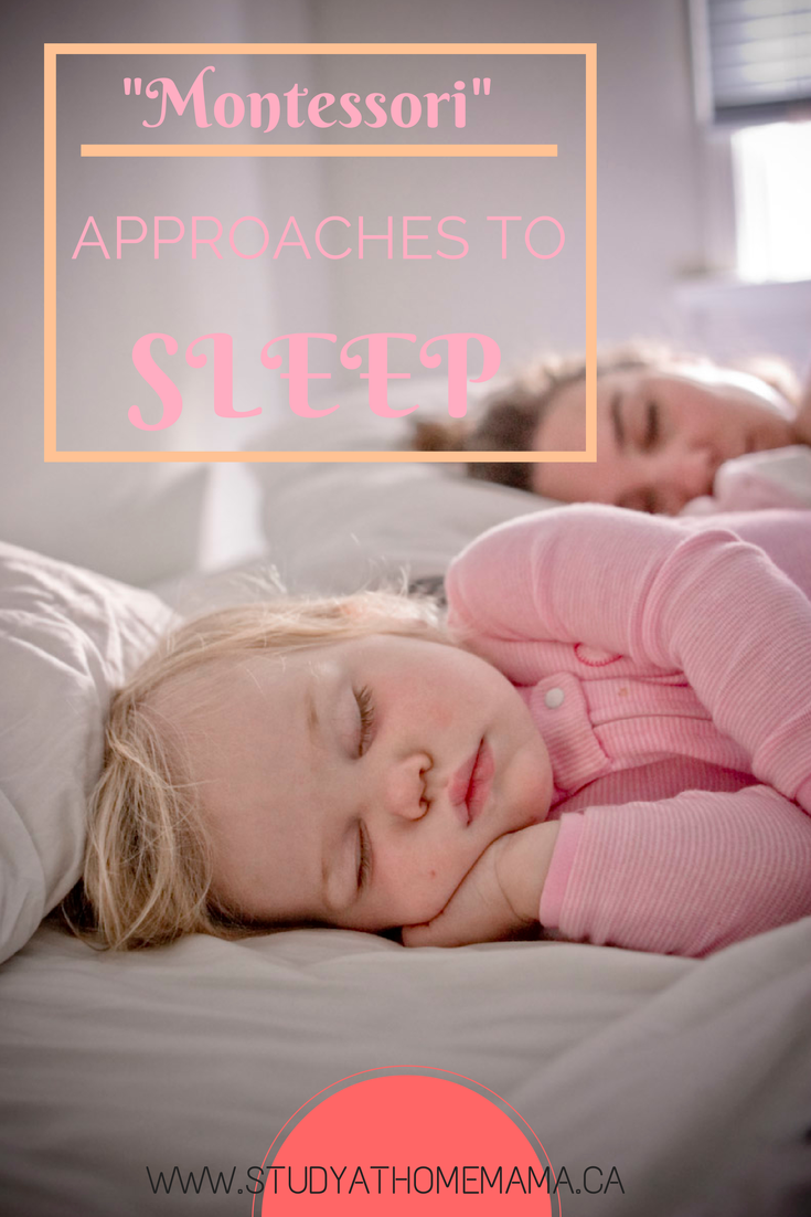 """Study-at-Home Mama: """"Montessori"""" Approaches to Sleep"""