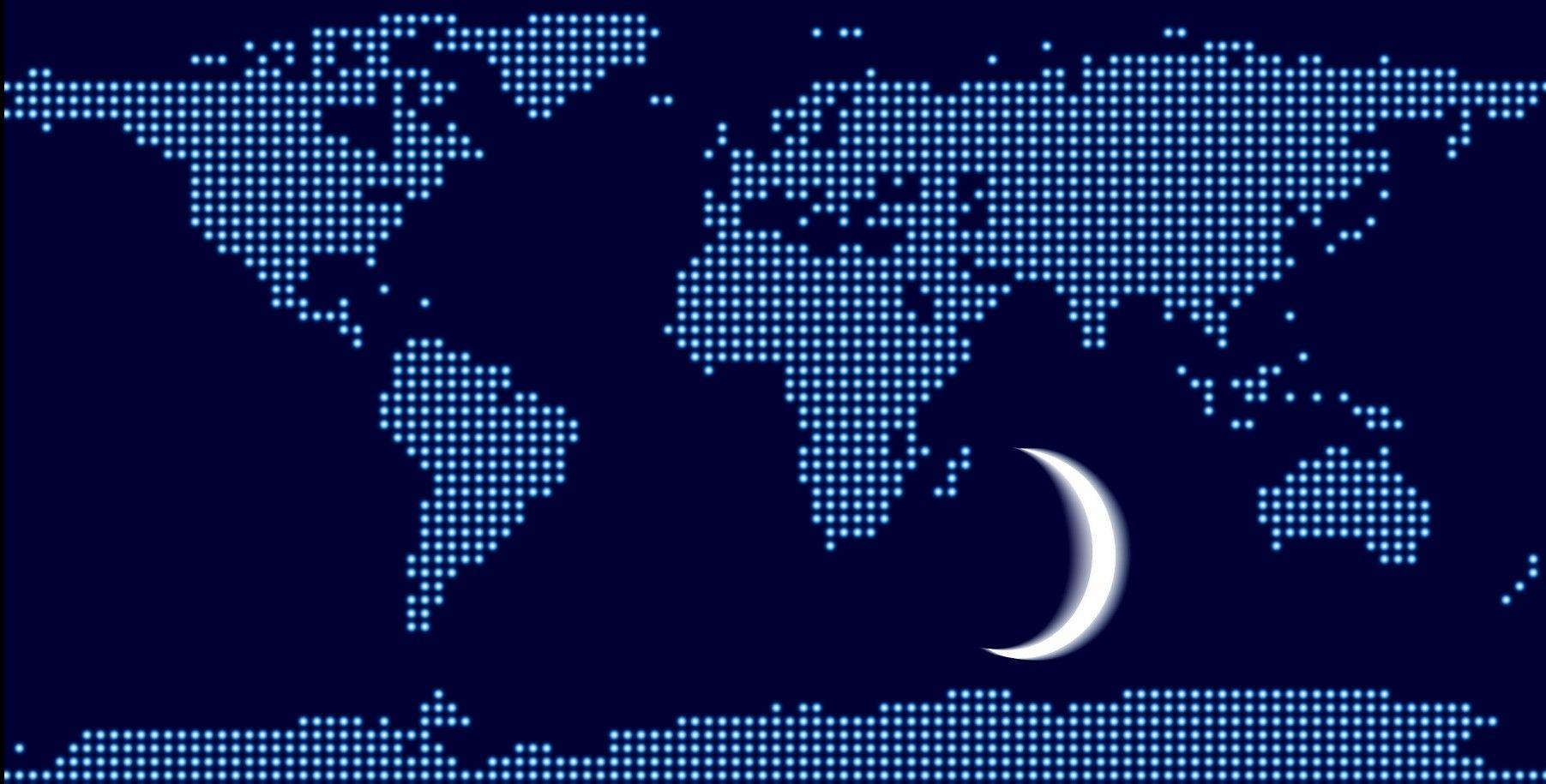 خريطة العالم النقطية Cartography Map Dots