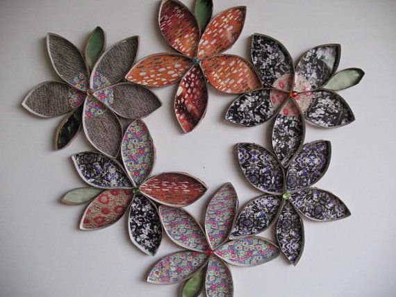 Upcycled toilet paper rolls by rutiline on etsy 3000 art find this pin and more on art items similar to wall flower art upcycled toilet paper roll mightylinksfo