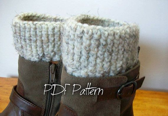 CROCHET PATTERN Chunky Crochet Boot Cuffs Infinity by CdCkDesign ...