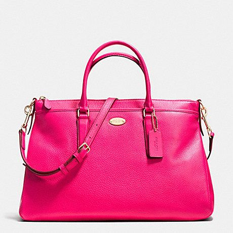 e1a422c5c8 ... best coach morgan satchel in pebble leather light gold pink ruby f35185  d3880 4f67d