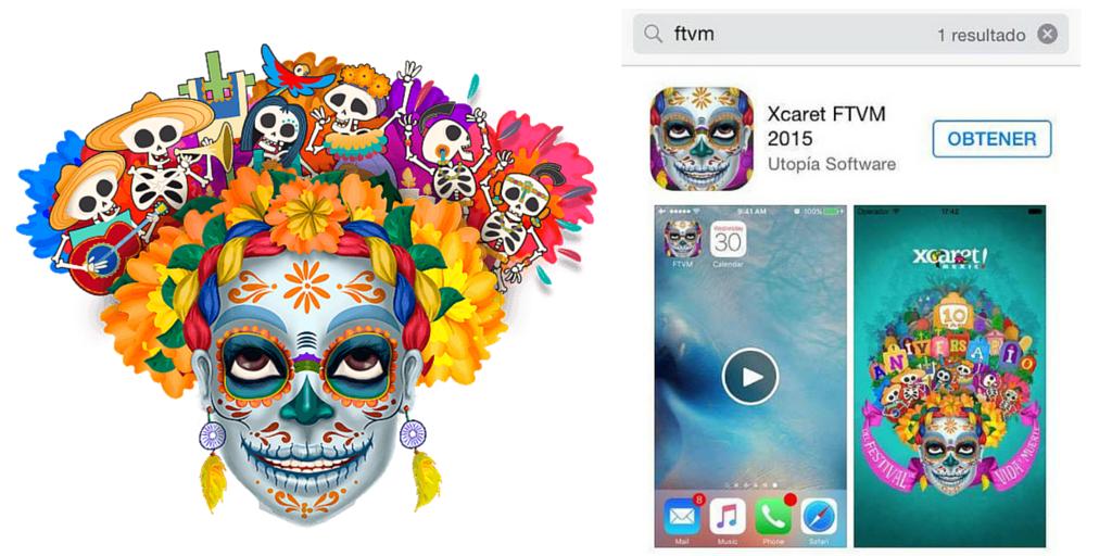 Si vienes al #FestivalVidaYMuerte descarga la app oficial, búscala en la App Store y en Google Play como ftvm