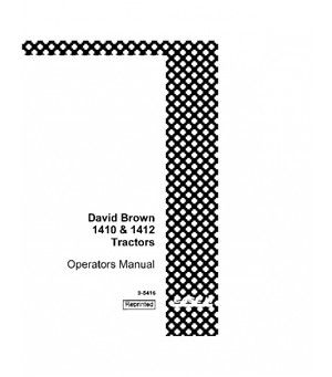 CASE IH DAVID BROWN 1410 1412 TRACTOR OPERATORS MANUAL