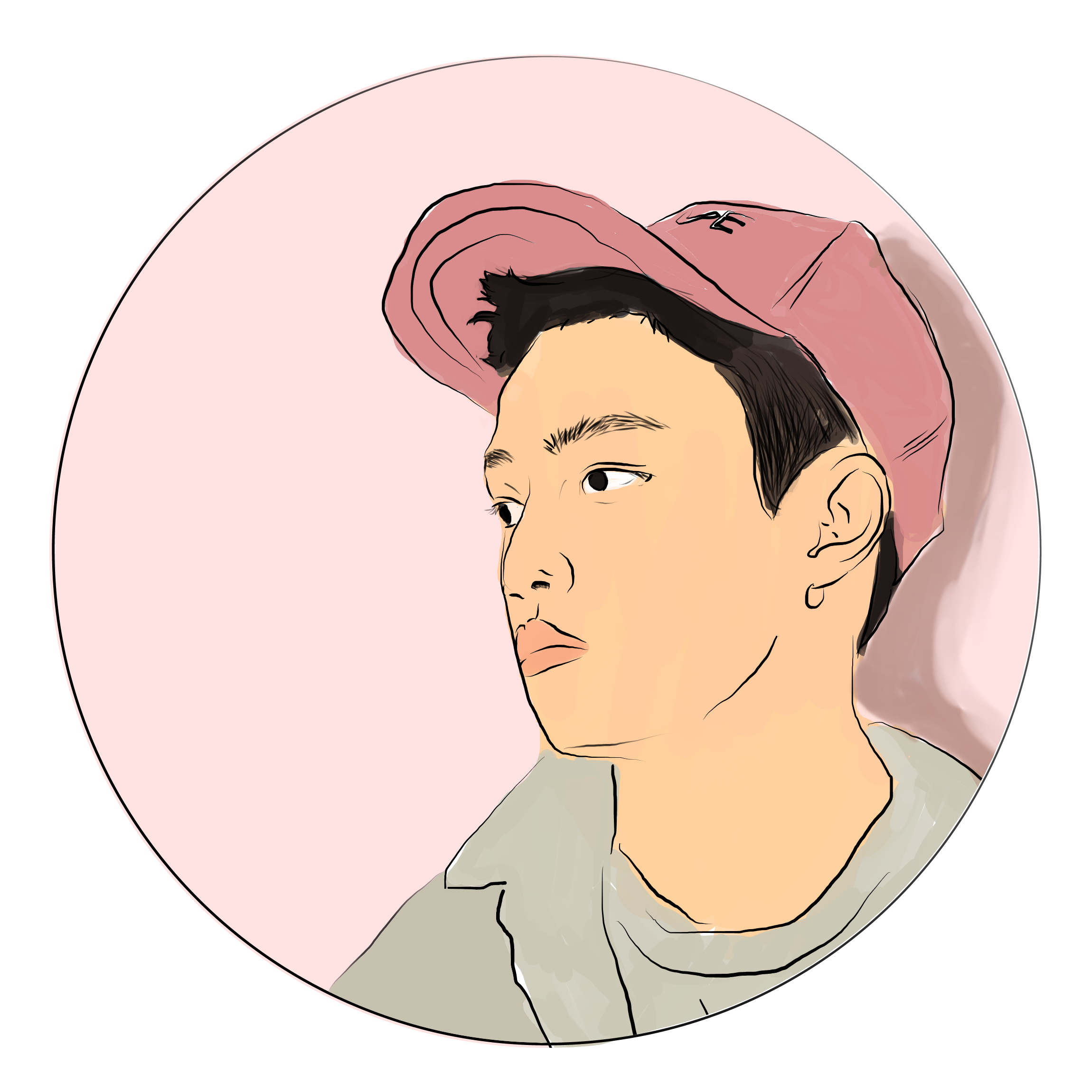 A Circle Sticker Design Of Kyungsoo From The Group Exo Exo Exol Suho Kai Chanyoel Lay Jongin Kpopfanart Exo Stickers Kpop Fanart Digital Illustration
