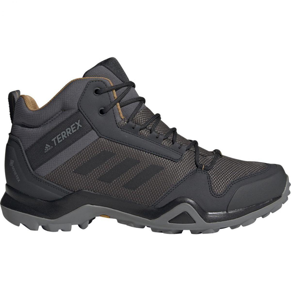 Buty Adidas Terrex Ax3 Mid Gtx M Bc0468 Czarne Szare Hiking Boots Women Hiking Boots Mens Hiking Boots