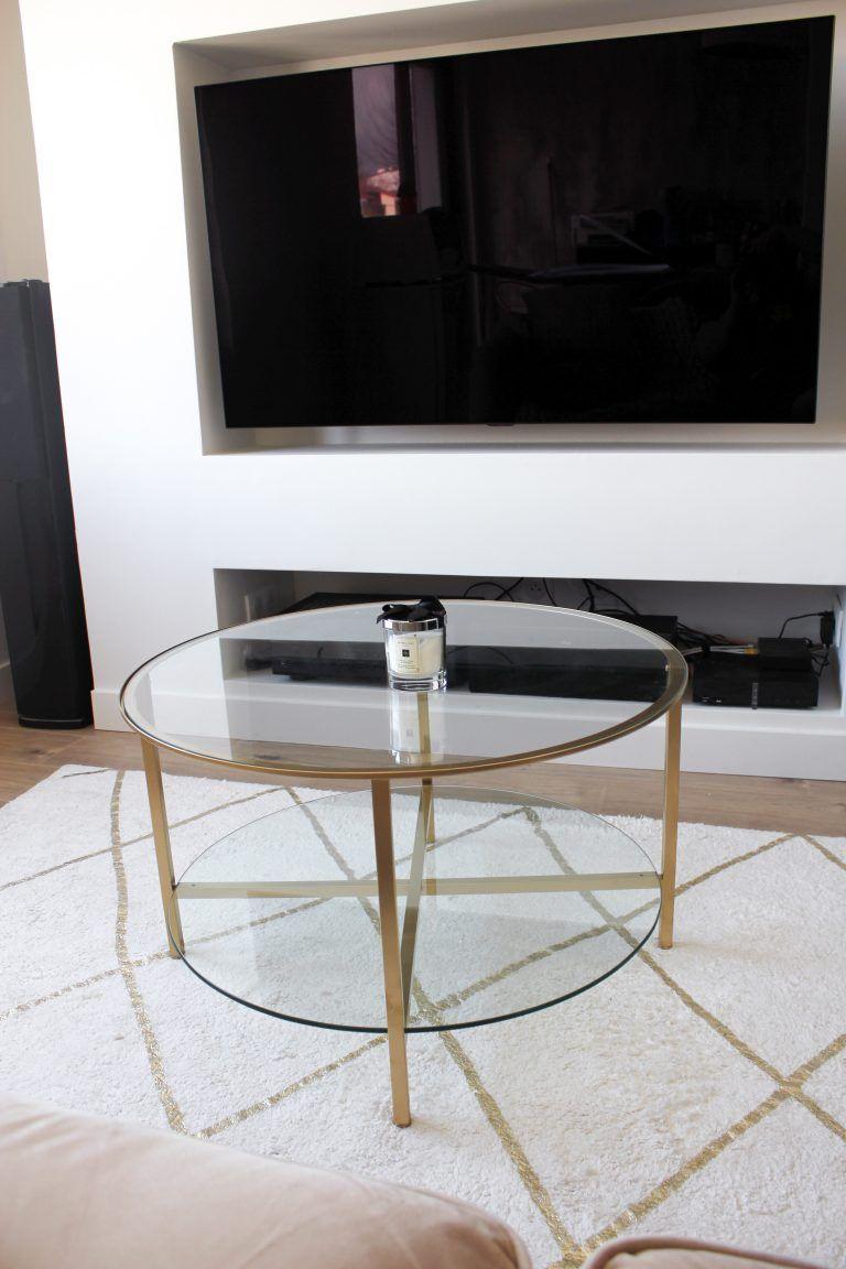 Ikea Hack 2 Une Belle Table Basse Design En 2020 Table Ronde Ikea Table Basse Table Basse Design