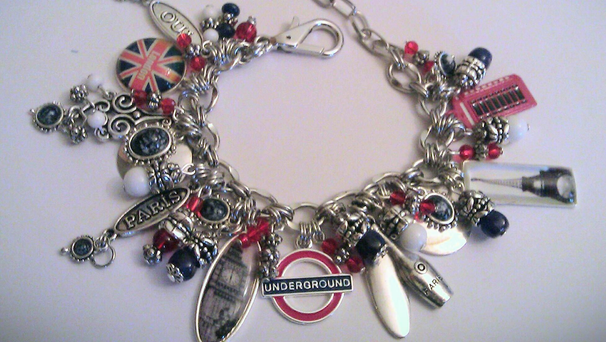 london calling travel themed charm bracelet big ben the