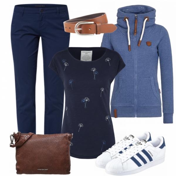 Freizeit Outfits: Blue Monday bei ___