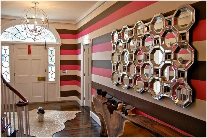 horizontal striped wallpaper - Top 5 Wallpaper Trends In 2017 - Contemporary Options In Wallpaper -  #wallpaper #wallpaper2017 #wallpapercolors #wallpaperpatterns #wallpapertextures #wallpapertrends