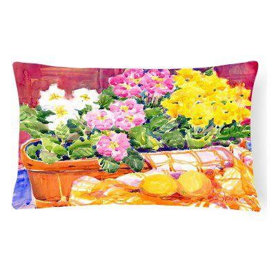 Carolines Treasures Primroses Flower Rectangle Decorative Outdoor Pillow - 6061PW1216