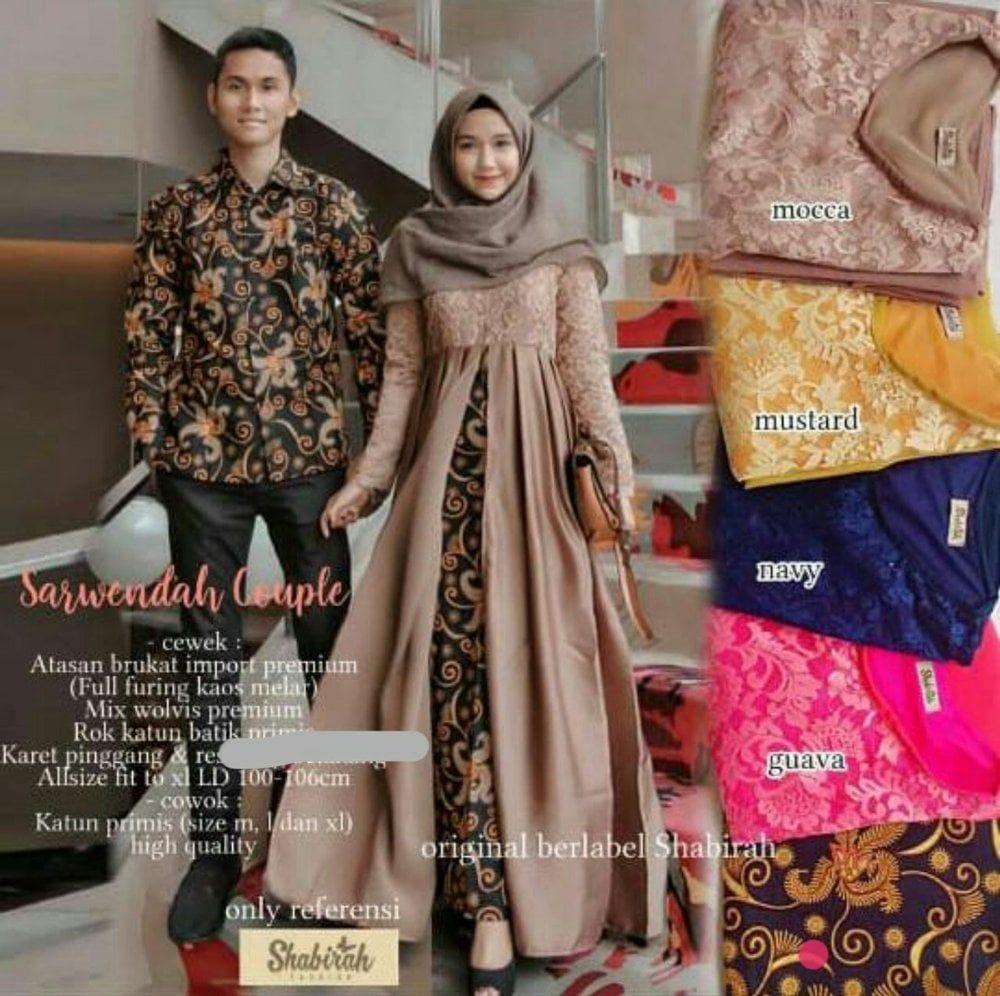 Model Gamis Batik Couple Terbaru di 10  Pakaian wanita, Model