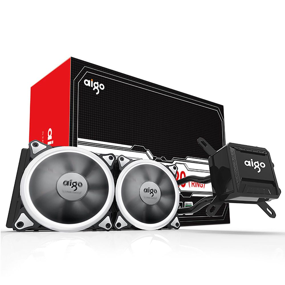 Aigo All In One Cpu Liquid Cooler Kit 120mm Fans Water Cooling