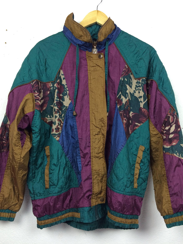 Vintage 90s Active Stuff Retro Jacket Hip Hop Swag Size XL