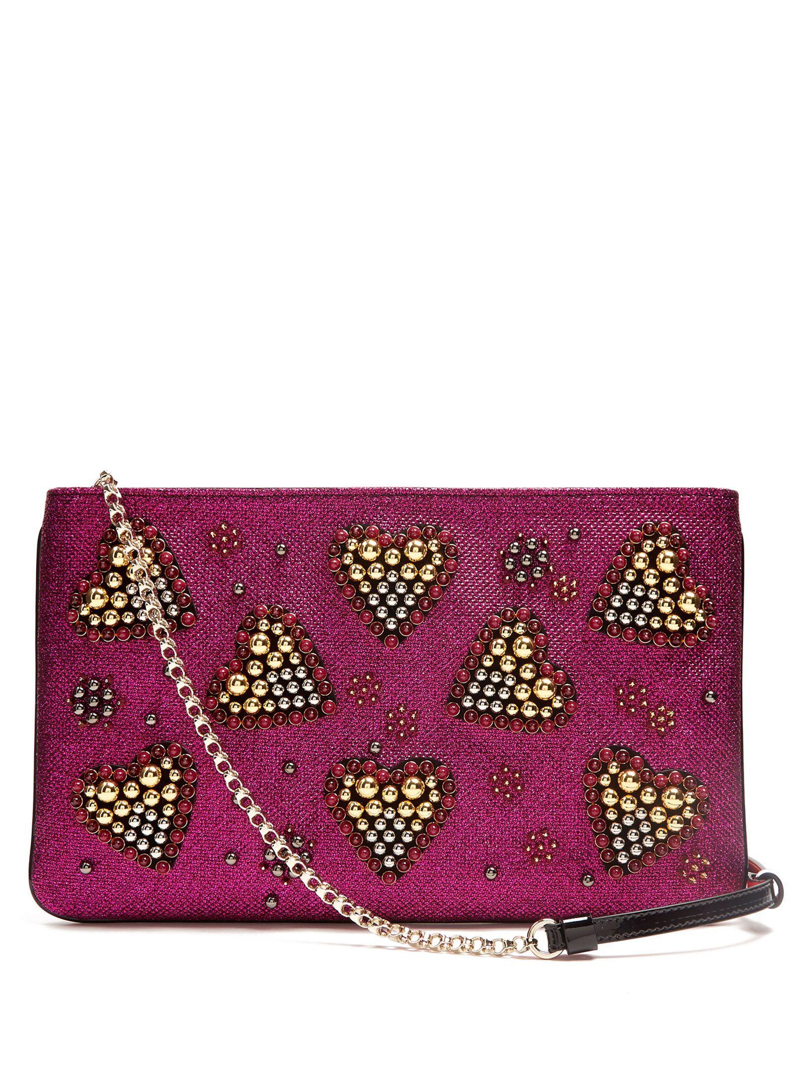 a86778c229b CHRISTIAN LOUBOUTIN Loubiposh spike-embellished glitter pouch ...