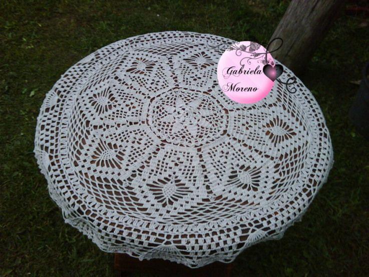 Delicadezas en crochet Gabriela: Centro de mesa de mi autoría
