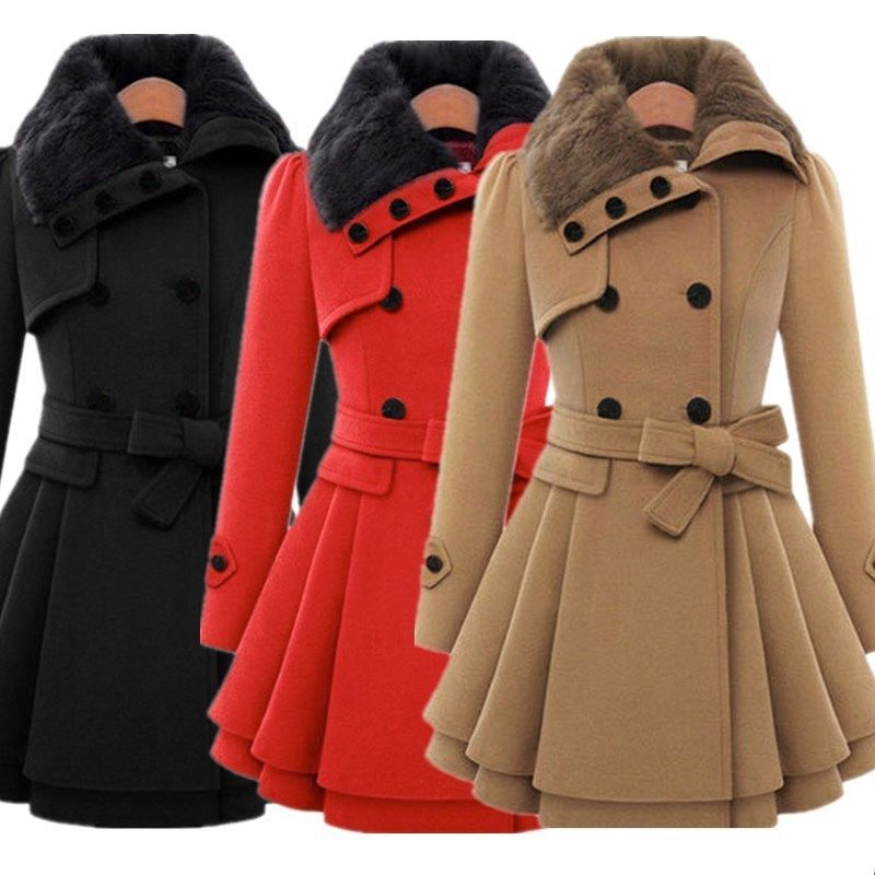 1f2e1285e3f39 Nuevo para mujer caliente de invierno abrigo largo Parka Con Capucha Grueso  Abrigo Chaqueta Prendas de abrigo