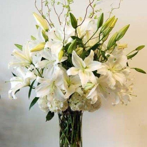 Image Result For Casa Blanca Lily Flower Arrangements Ideas Flower Arrangements Simple Winter Floral Arrangements Flower Arrangements