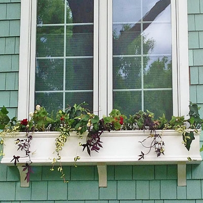 72 Charleston Pvc Window Boxes No Rot W 3 Free Brackets Pvc Windows Window Planter Boxes Window Box