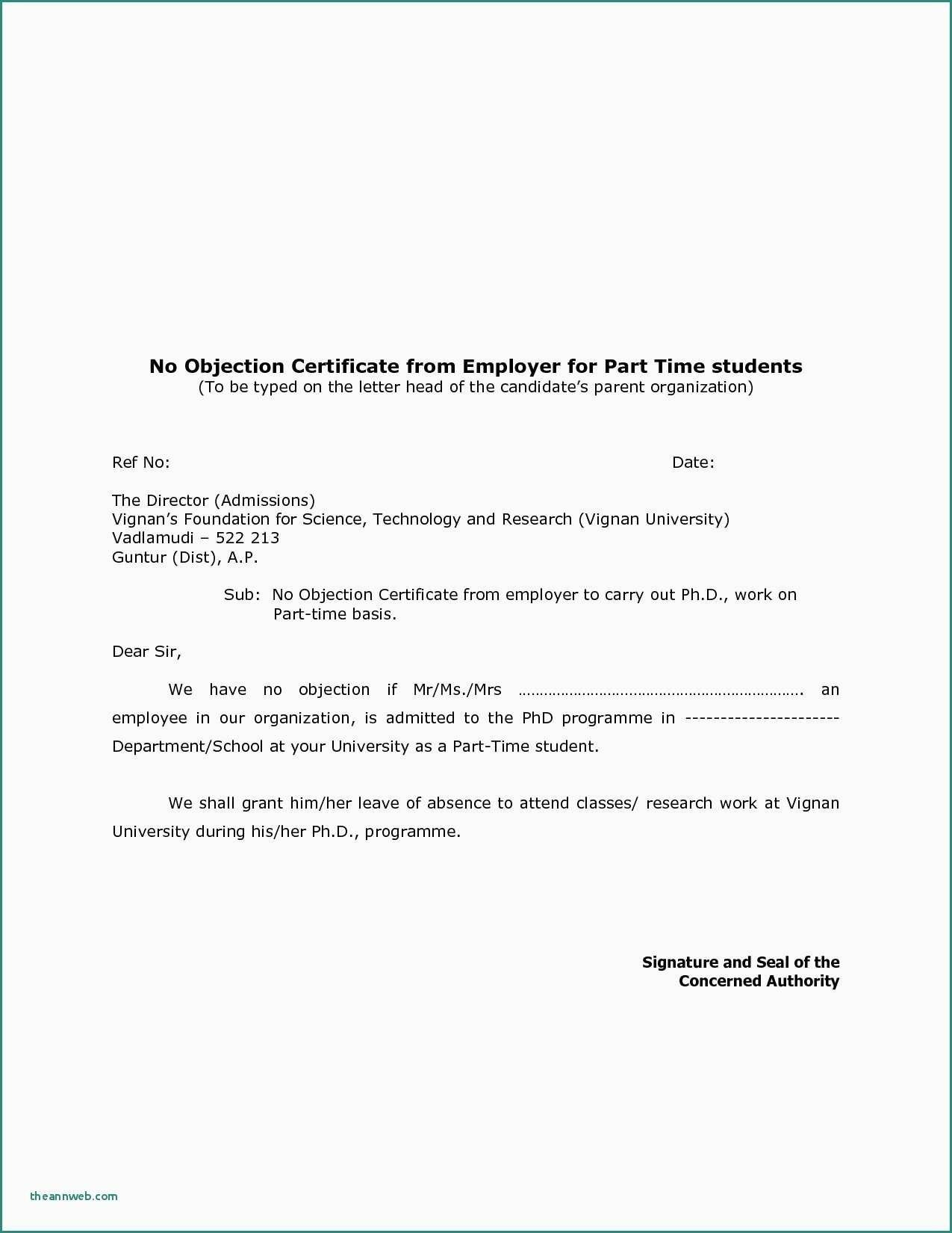 New No Objection Certificate Request Letter License Driving