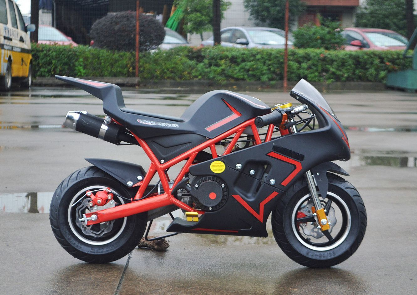 free shipping canada usa new four stroke 49cc mini pocket bike top motors pinterest. Black Bedroom Furniture Sets. Home Design Ideas