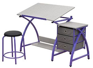 Cool Comet Center With Stool In Purple Top 10 Best Drafting Bralicious Painted Fabric Chair Ideas Braliciousco