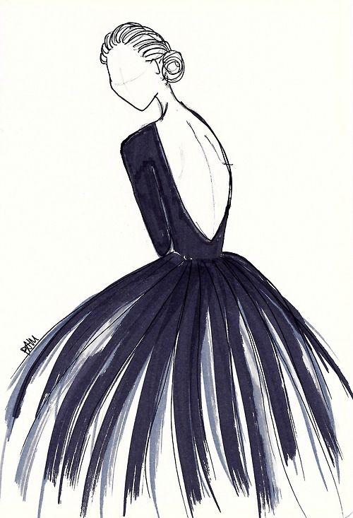 Redaction Robe Aquarelle Dessin Robe Et Illustration De Mode