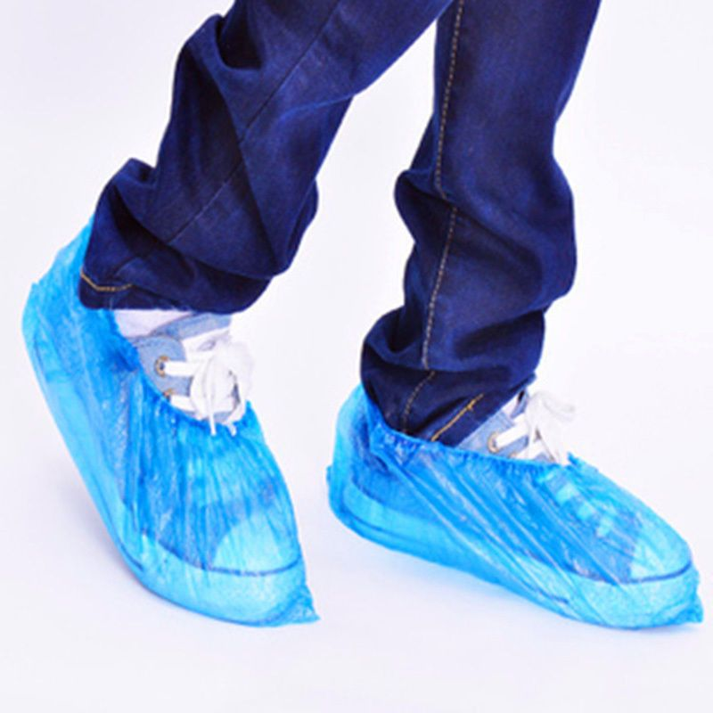 Hot Sale 100 Pc Disposable Shoe Covers Carpet Cleaning Overshoe Guests Equipment