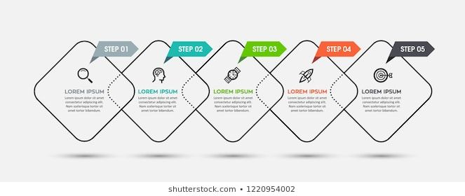 Vector Infographic design template with icons and 5