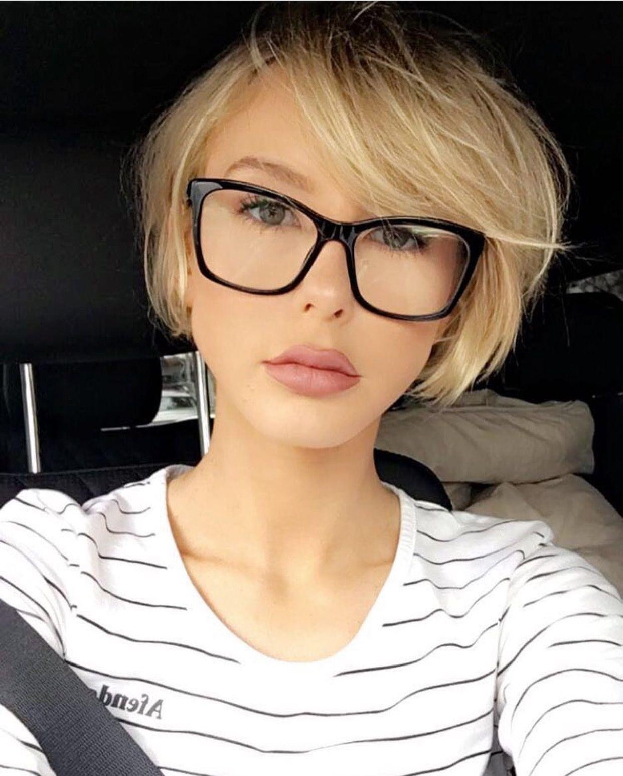 Blonde Bob On Adrianna Christina Insta Short Hair