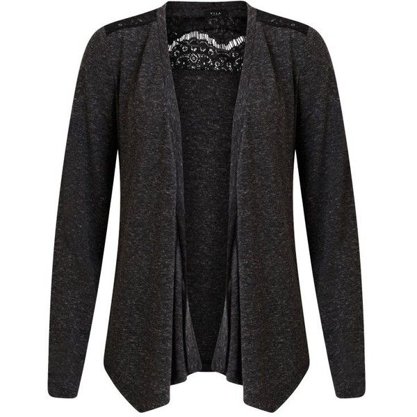 8d0a3069602 Vila Verity Lace Cardigan (€27) ❤ liked on Polyvore featuring tops ...
