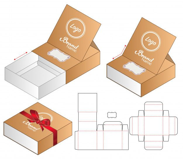 Diseño de plantilla de troquelado de emb  Premium Vector