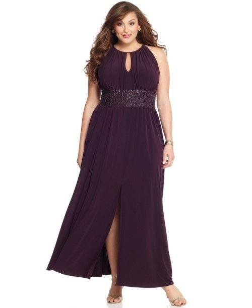 r m richards plus size dress sleeveless keyhole beaded waist
