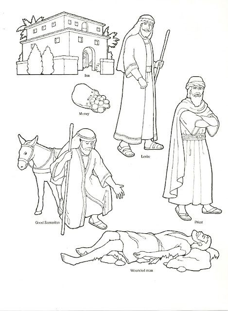 Primary 3 Lesson 37 Sunday School Coloring Pages Good Samaritan