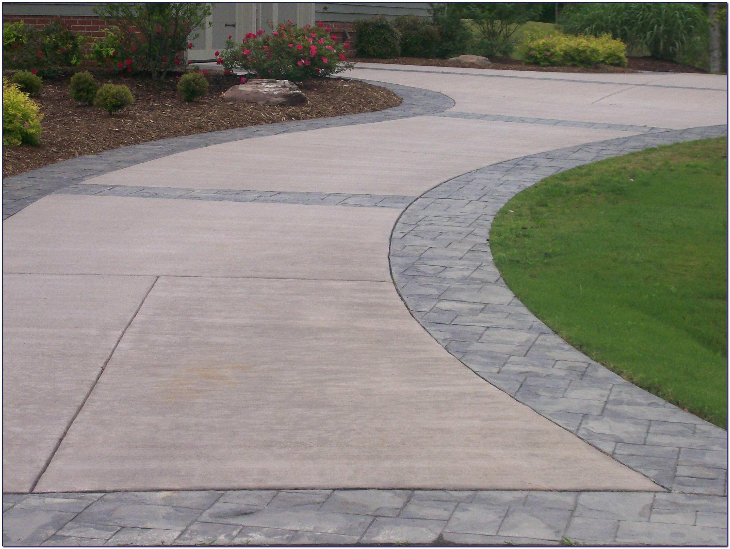 Pin By Elizabeth Lambert On Garden Stamped Concrete Driveway