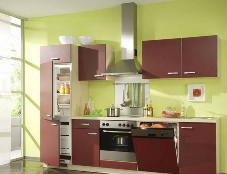 kitchen modern kitchen set with silver appliances with green kitchen pictures for kitchen walls - Modern Kitchen Wall Colors
