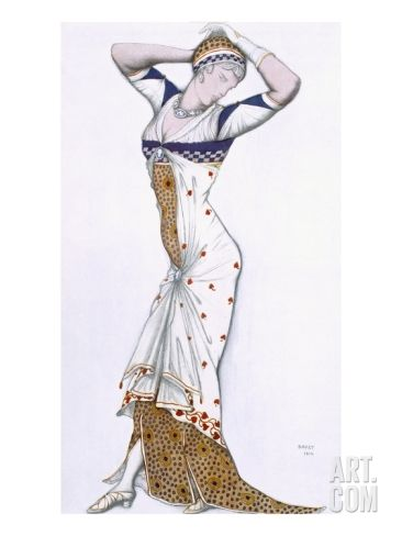 Design from a Fantasy of Modern Costume, 1912 (Colour Litho) Giclee Print by Leon Bakst at Art.co.uk