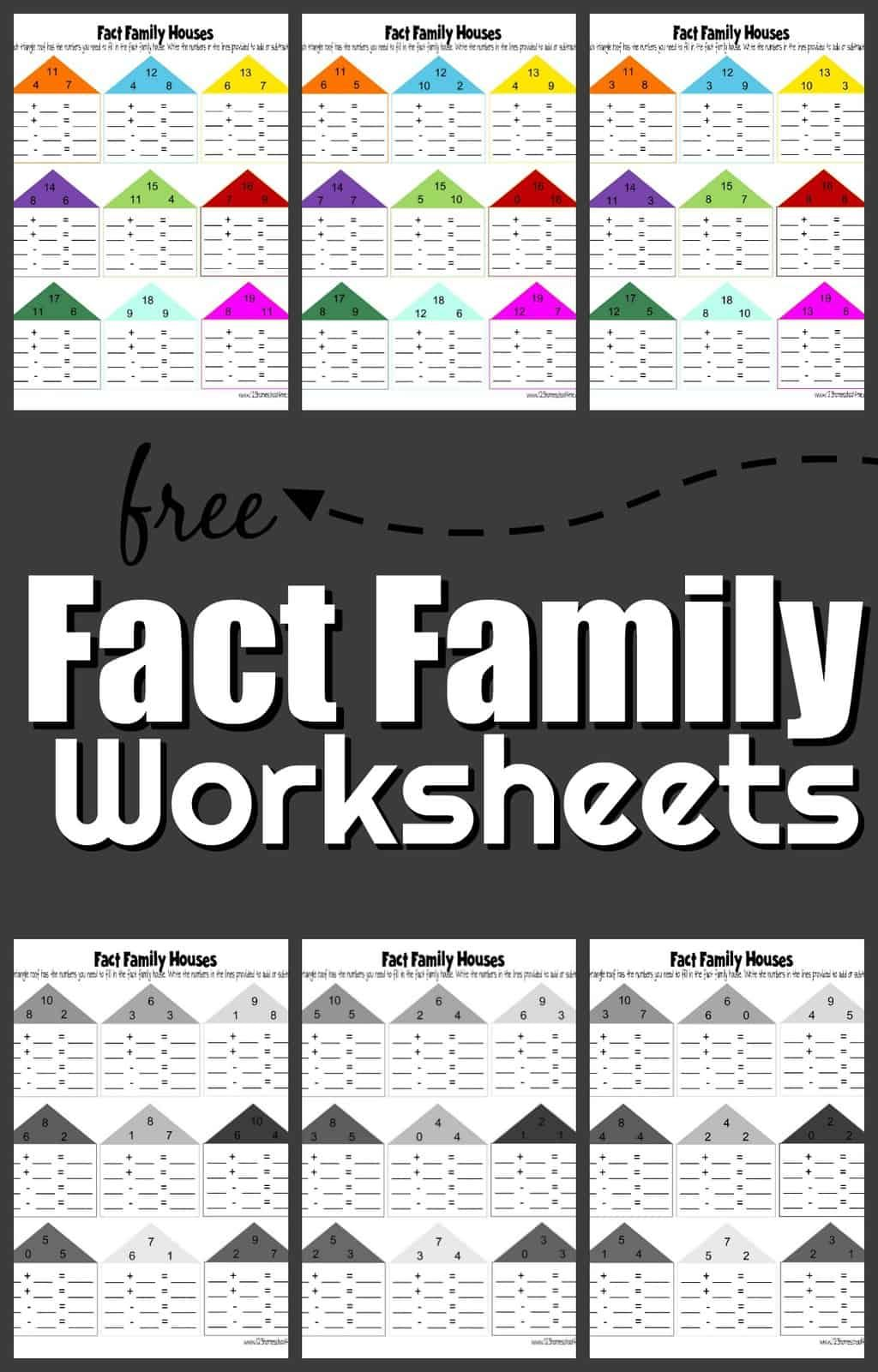 Free Fact Family Worksheets In