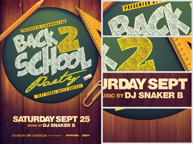 Back To School Party Flyer Template 4 | Back To School Party