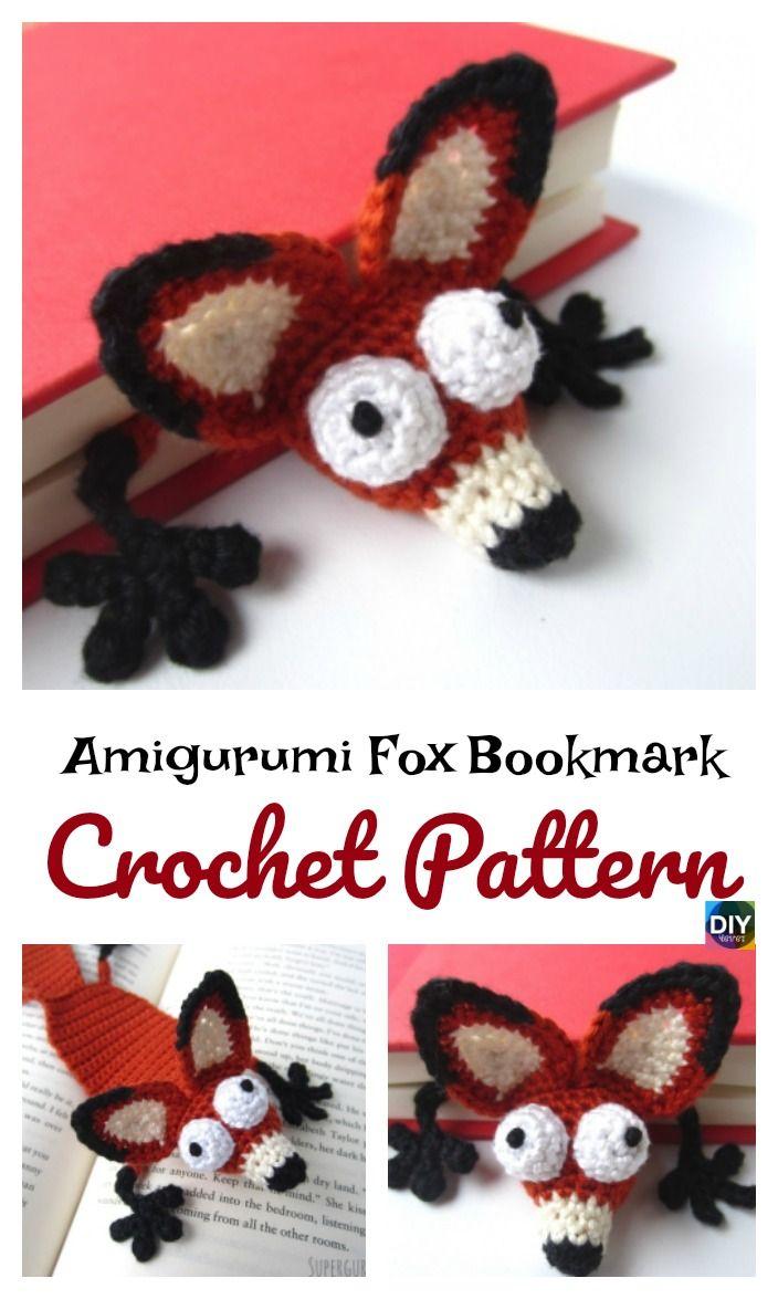Crochet Amigurumi Fox Bookmark Pattern | Amigurimi | Costura ...