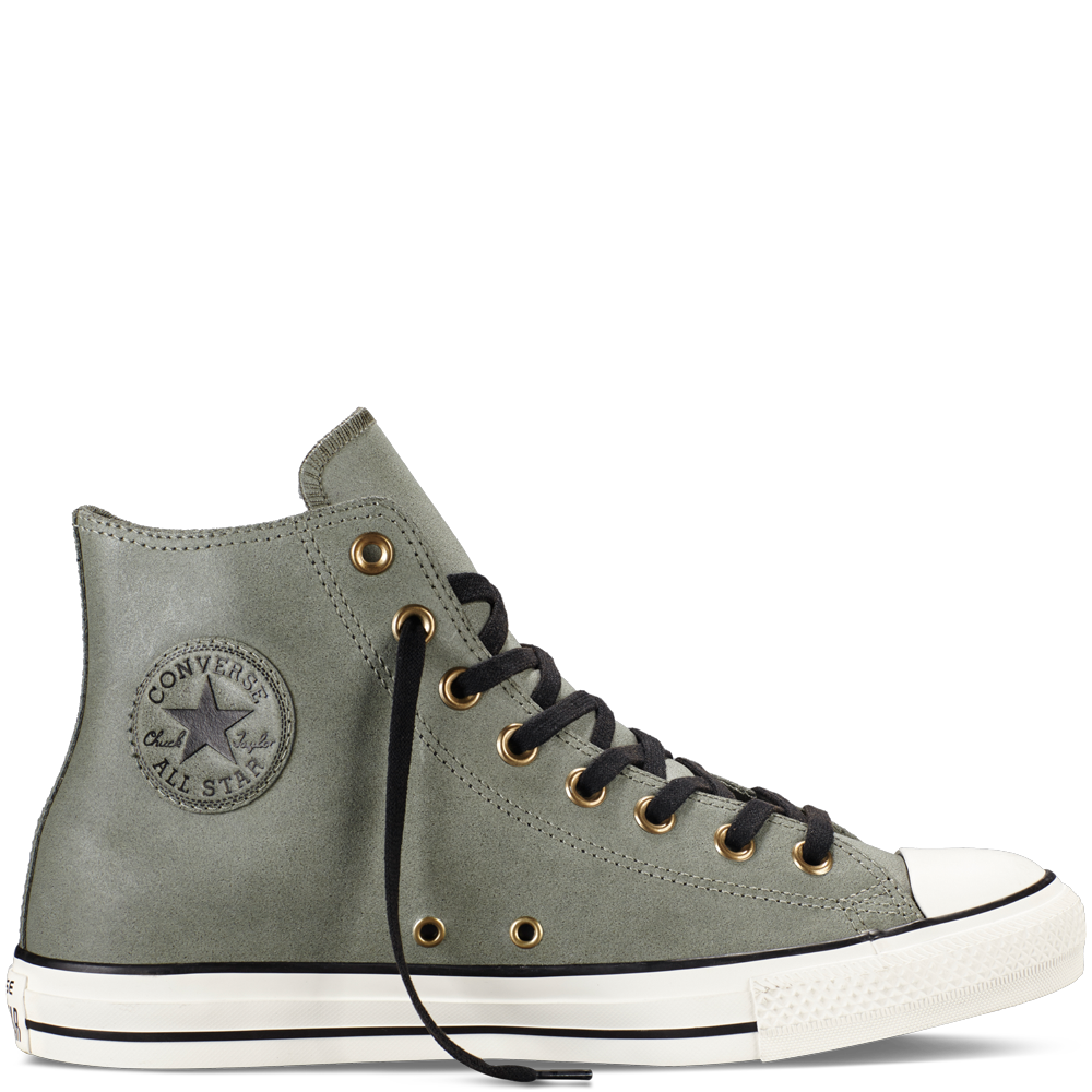 Guaranteed quality Mens Converse Chuck Taylor All Star High Olive Submarine Green WhiteBrown