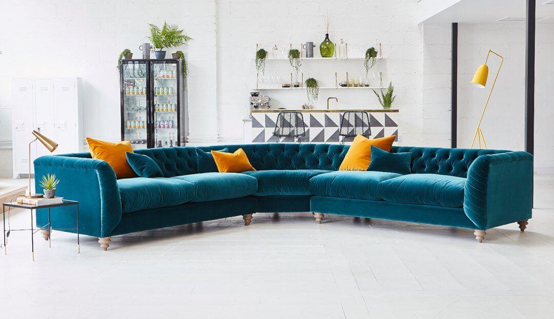 Dulwich Large Corner Sofa In 2020 Corner Sofa Leather Corner Sofa Velvet Corner Sofa