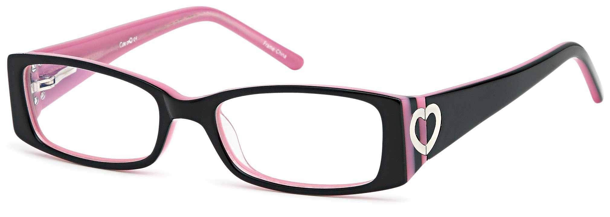 Childrens Cute Girls Hearts Glasses Frames Black Kids Prescription ...