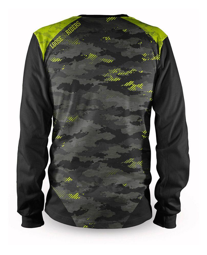 Loose Riders Herren CAMO YELLOW Jerseys Langarm.Sportwear