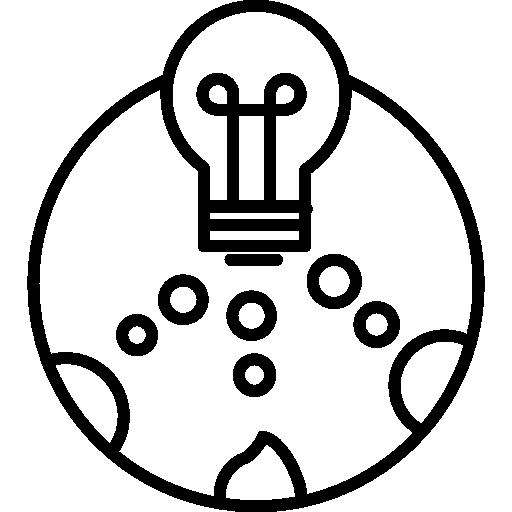 Descarga Gratis Bombilla De Luz En Un Circulo Con Pequenos Circulos Em 2020 Descarga