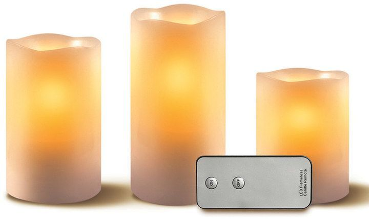 Kohl's LED Flameless Candles and Remote 4-piece Set