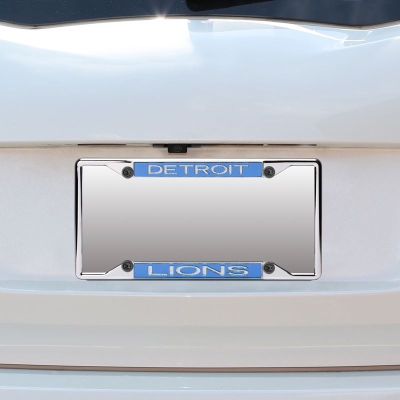 Detroit Lions Small Over Small Mirror License Plate Frame with ...