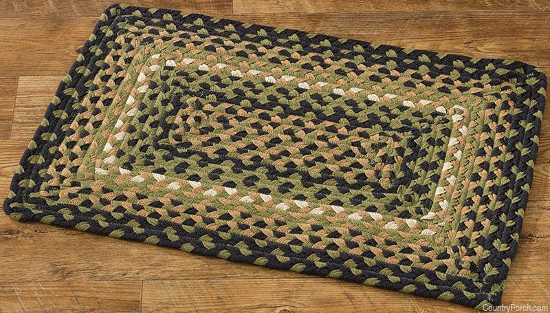 Countrypolitan rectangle braided rug alfombras trapillo