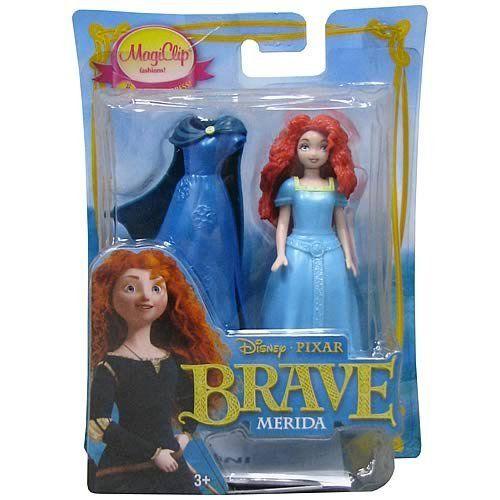 "Disney Brave Movie MagiClip 3.5"" Fashion Doll MERIDA by Disney. $11.69. Includes (2) Magi-Clip Fashions. Ages 4 & UP Per Packaging. Disney Brave Movie Fashion Doll - MERIDA. Approx 3.5"" Tall Merida Doll. Disney Brave Movie MagiClip 3.5"" Fashion Doll MERIDA"